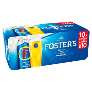 Fosters Lager 10 Pack cans